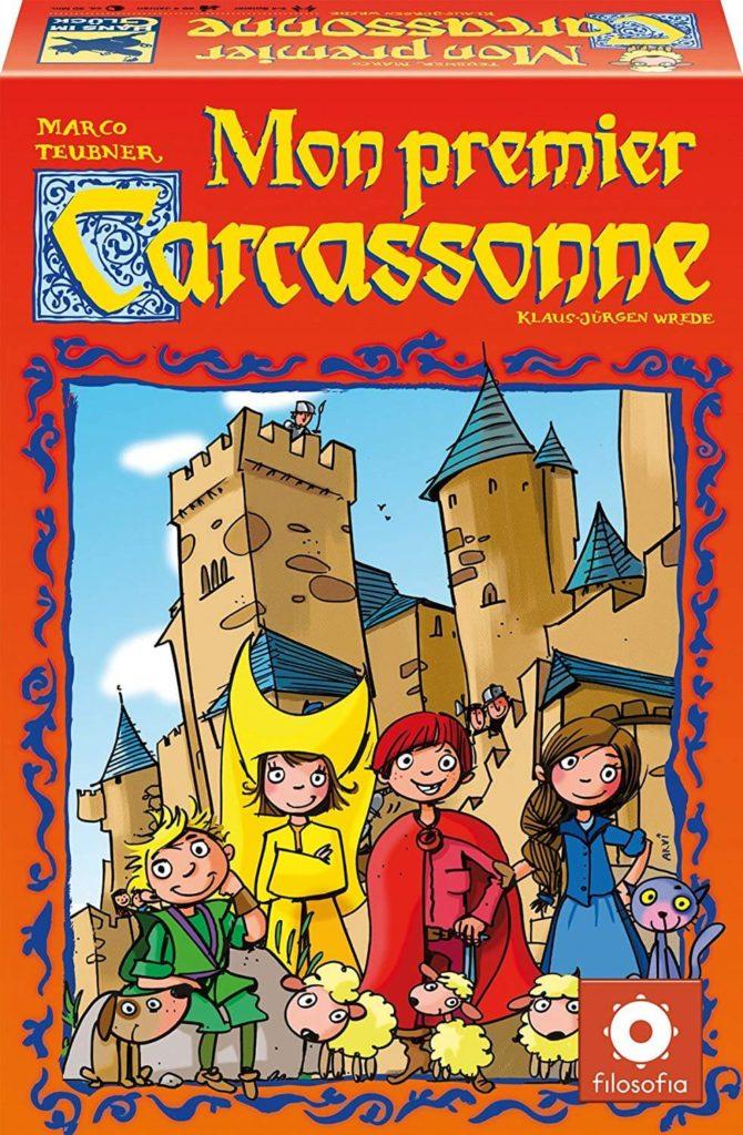 Mon Premier Carcassonne Boite parmi les meilleurs jeux de société 4 ans